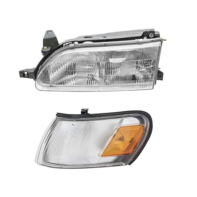 Pair Amber CG Toyota Corolla 93-97 Corner Light Euro Black