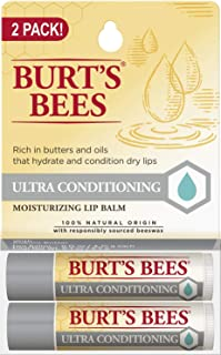 product image for Burt's Bees 100% Natural Moisturizing Lip Balm, Ultra Conditioning with Kokum Butter, Shea Butter & Cocoa Butter - 2 Tubes