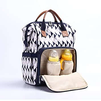 7896d00ea9f9c Amazon.com : Diaper Bag Backpack, Waterproof Multi-Function Diaper  Backpack, Durable 12 Compartment Pockets, Blue : Baby