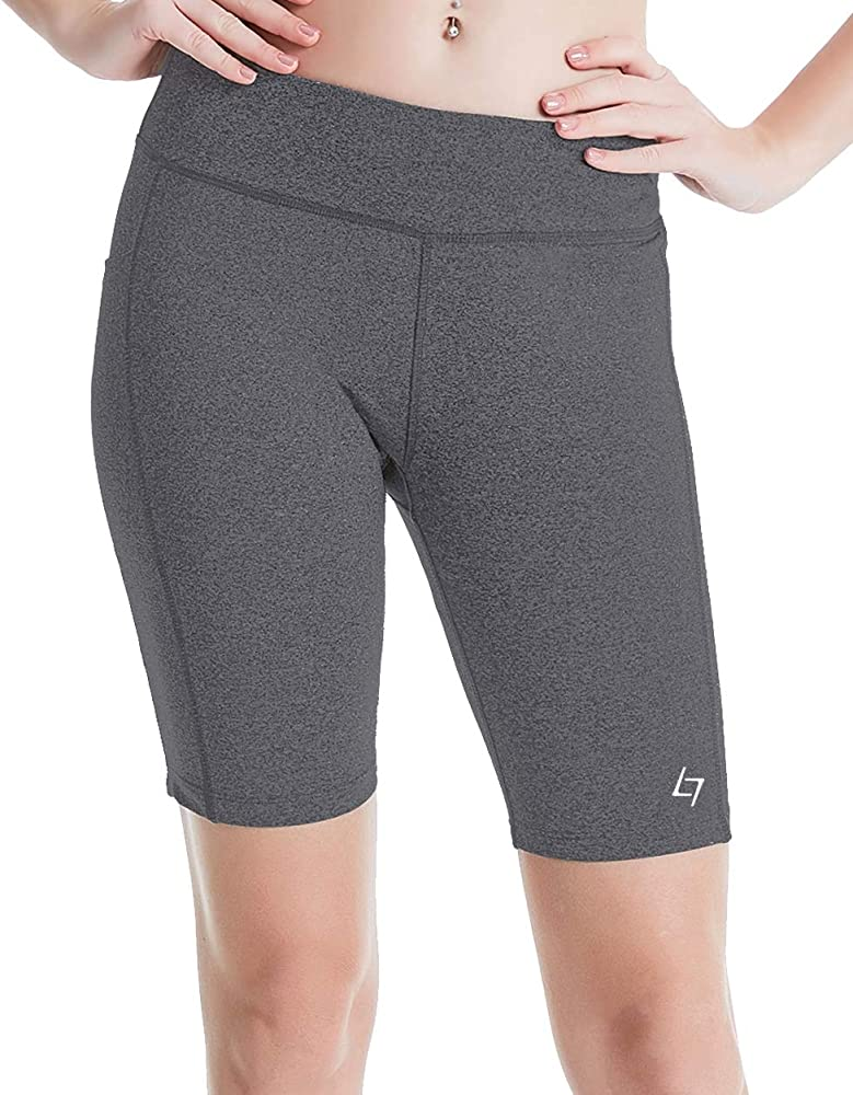 5539123a92 FITTIN Women's Sports Shorts Activewear for Active Fitness Pocket Yoga  Running Workout Gym Running Leggings Light