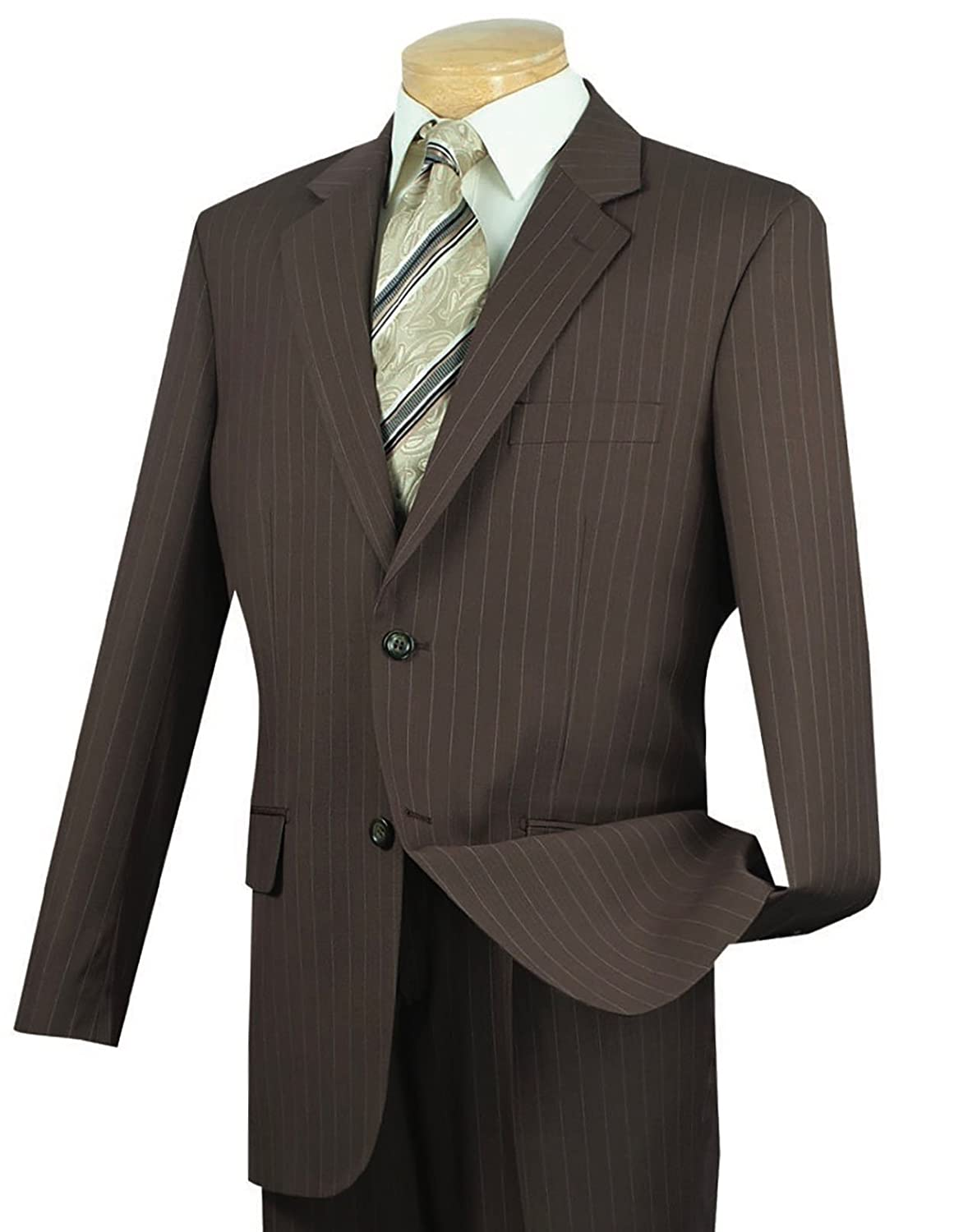 Men's Vintage Style Suits, Classic Suits VINCI Mens Pinstriped 2 Button Classic-Fit Suit New $119.95 AT vintagedancer.com