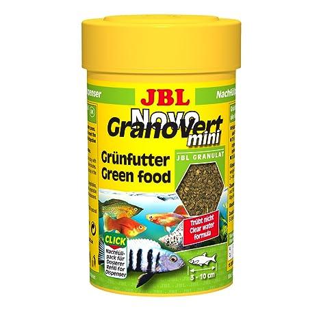 JBL 300968 Novogranovert Mini Refill Alimento Básico en Gránulos para Peces de Acuario Fitófagos, 100