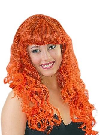 Guirca Fiestas gui4488 – Peluca con Rayas de Color Naranja (Caja Contenedor)