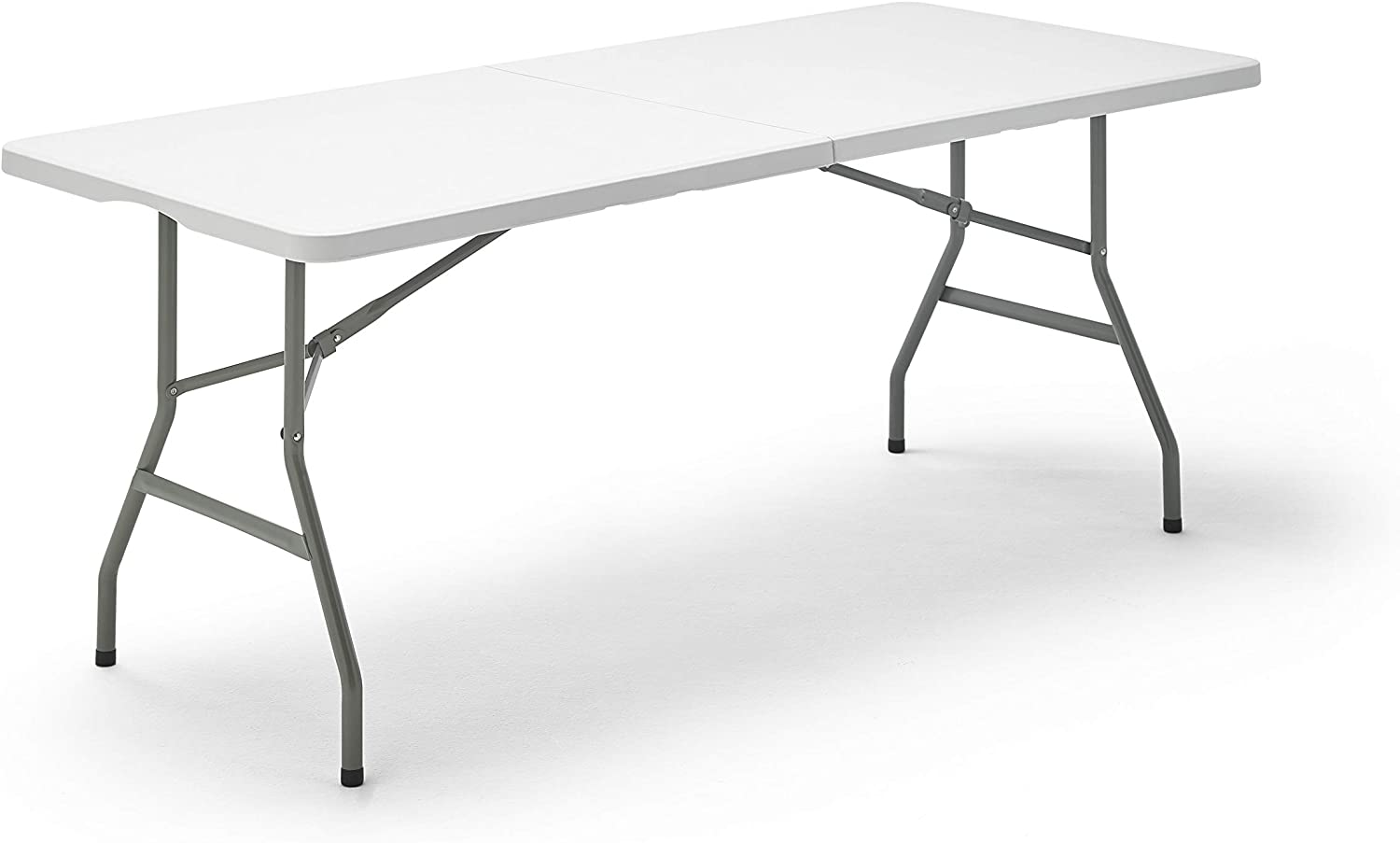KitGarden Folding 180 - Mesa Plegable, color Blanco, 180x74x74 cm