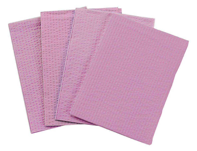 TIDI 2 Ply Tissue/Poly Mauve Dental Bib/Towel