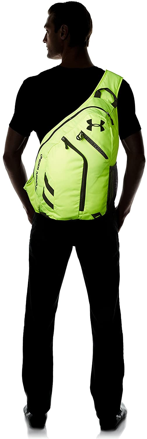 low priced 52c03 263ac Under Armour Compel Sling Backpack, High-Vis Yellow (731), One Size,  Backpacks - Amazon Canada
