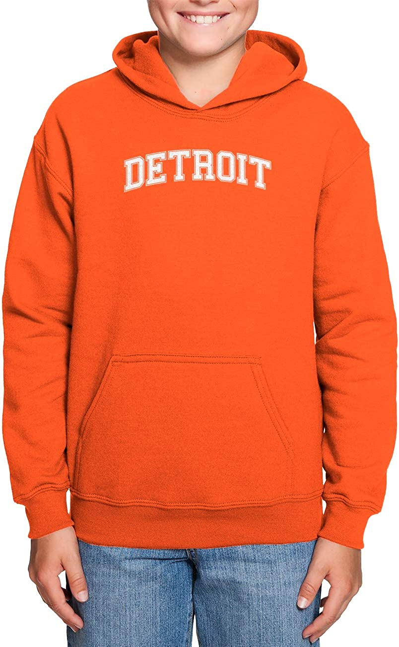 Haase Unlimited Detroit State Proud Strong Pride Toddler//Youth Fleece Hoodie