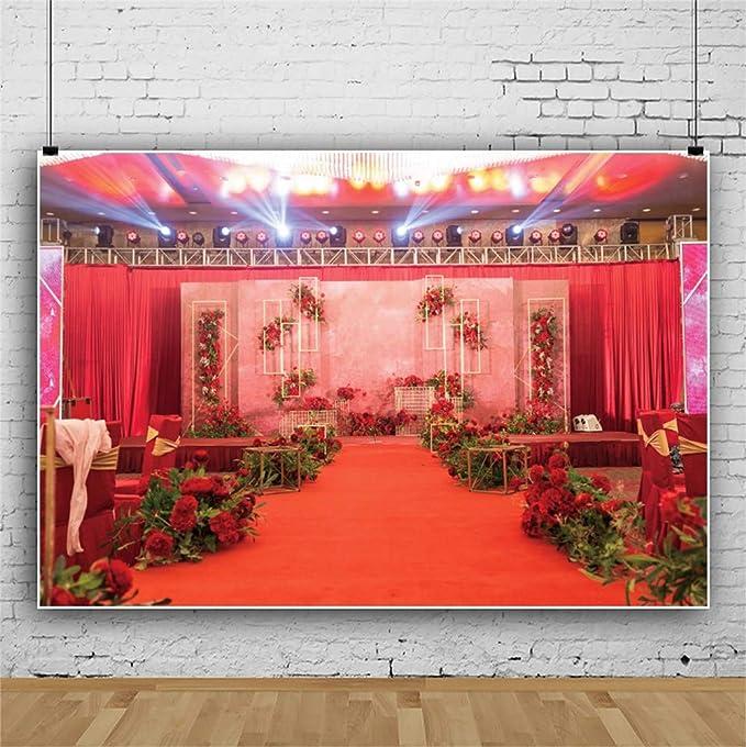Laeacco 10x6.5ft Romantic Wedding Photo Backdrop Graceful Couple Swans Reflection Vinyl Photography Background Bokeh Haloes Rose Heart Diamond Decors Purple Backdrop Lovers Newlywed Portraits