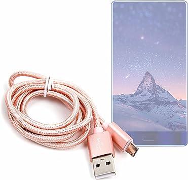 DURAGADGET Cable USB a Micro USB en Color Rosa. para Carga y Transferencia de Datos para Smartphone Doogee Mix/Cubot R9: Amazon.es: Electrónica