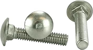 Stainless 1//4-20 x 1-1//2 Carriage Bolt 3//4 to 5 Lengths Available in Listing 18-8 Stainless Steel,50 Pieces 1//4-20x1-1//2