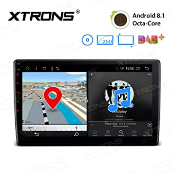 xtrons 10 1 inch android 8 1 car stereo octa core hd amazon co uk rh amazon co uk