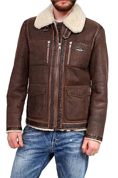 Aeronautica Militare - Chaqueta - Vestir - para hombre Marrón marrón oscuro large: Amazon.es: Ropa y accesorios