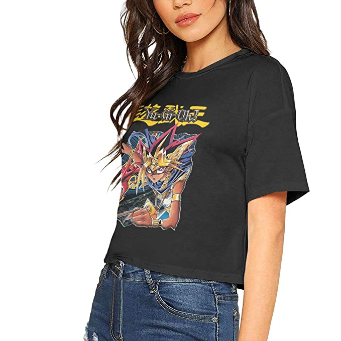 4017dc456 Amazon.com: Women T Shirt Womens Yu-GI-Oh Crop Tops: Clothing