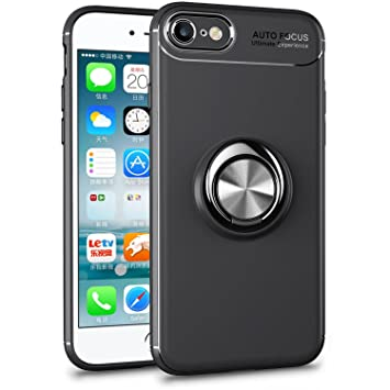 86b934d455 ALEVE iPhone8 ケース iPhone7 ケース 薄型 軽量 耐衝撃 指紋防止 アイフォンケース リング付き 360