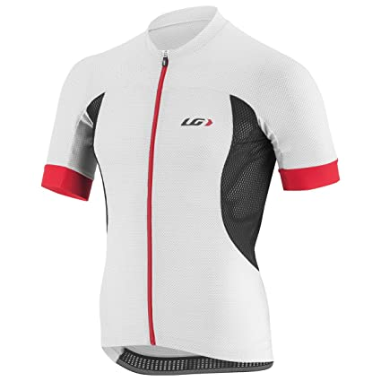 3bbf4dc78 Amazon.com   Louis Garneau Carbon Race Jersey White Black Red