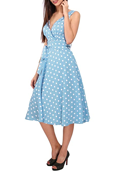 Womens Dress 40s 50s Swing Style Vintage Rockabilly Ladies Retro Prom Party Plus Size Dresses: Amazon.co.uk: Clothing