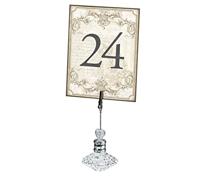 Amazoncom Lillian Rose Gold Wedding Reception Table Number Cards