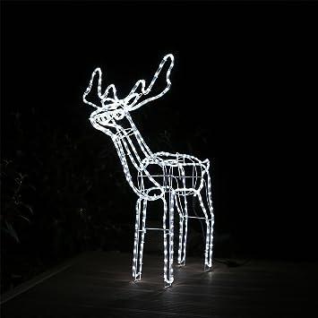 Weihnachtsbeleuchtung Rentier Beweglich.Led Rentier Mit Beleuchtung Groß Weihnachtsdeko Winterdekoration Renntier Elch Hirsch Weihnachtsbeleuchtung Winterbeleuchtung