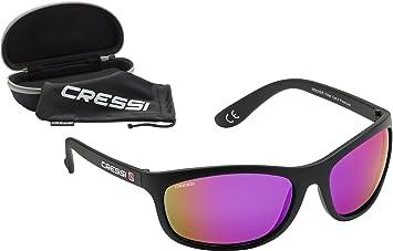 7bb23f6f24 Cressi Rocker Gafas de Sol, Unisex Adulto, Negro/Lentes Reflejado Púrpura,  Talla Única: Amazon.es: Deportes y aire libre