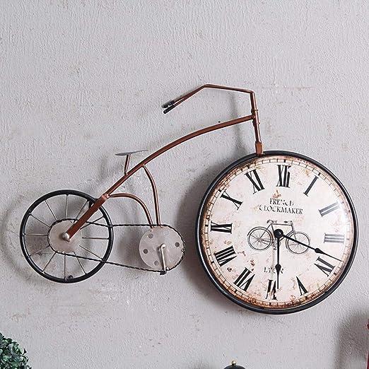 VBLSJ Reloj De Pared Bicicleta De Hierro Forjado Vintage Hogar ...