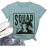 T&Twenties Women's Sanderson Sister Squad T Shirt Halloween Witches Graphic Tees Hocus Pocus Fall Casual Shirts Tops