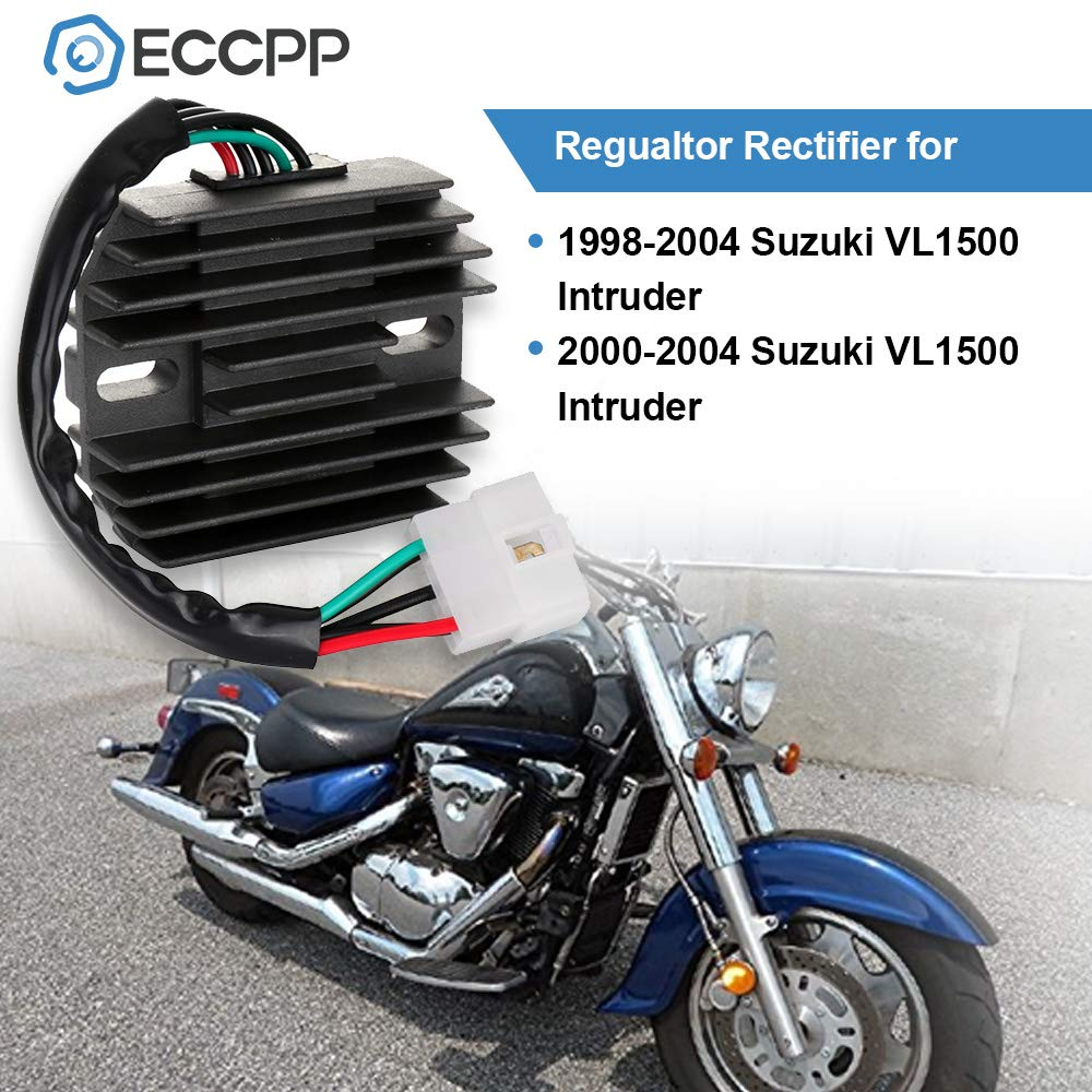 ECCPP Voltage Regulator Rectifier Fit for 1998 1999 2000 2001 2002 2003 2004 Suzuki Intruder 1500 Rectifier Regulator