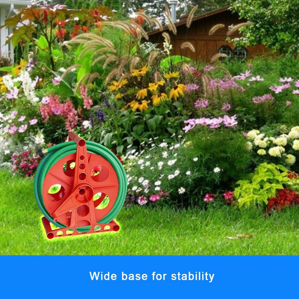 Pool Backwash Or Discharge Water Drain 150 Feet Hose Cord Reel Storage K-100 Cart Patio Garden Wheels Hoses Planting