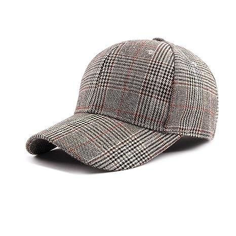 Dosige Sombrero de Cuadros para Mujer c59a68e468c