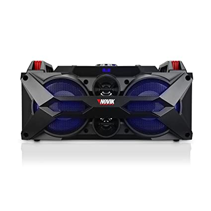4bbc62609 Amazon.com  NOVIK NEO TWISTER 4 Bluetooth 300W (RMS) Rechargeable Battery.  Portable Party Audio System with Audio Rhythmic Lights Microphone and  Remote ...