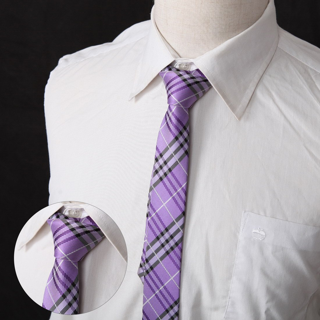 DANF0039 Series Colors 5cm-width Polyester Slim Ties Creative Fashion Skinny Ties - 5 Styles Available Inspire For Business By Dan Smith by Dan Smith (Image #2)
