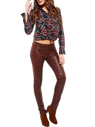 Laura1 Femme Pantalon Arturo Cuir 42Couleur Taille KF1clJT