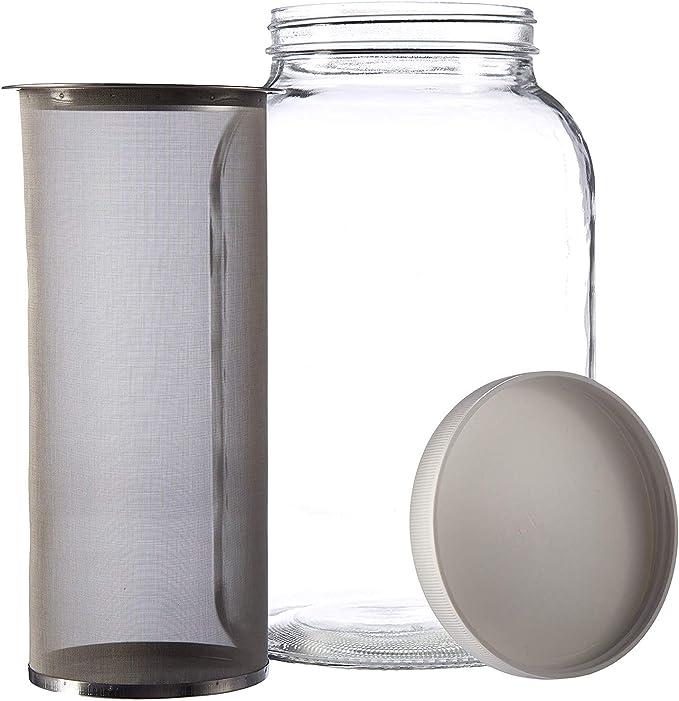 Amazon.com: 1 galón Mason estilo frío café cafetera – tarro ...