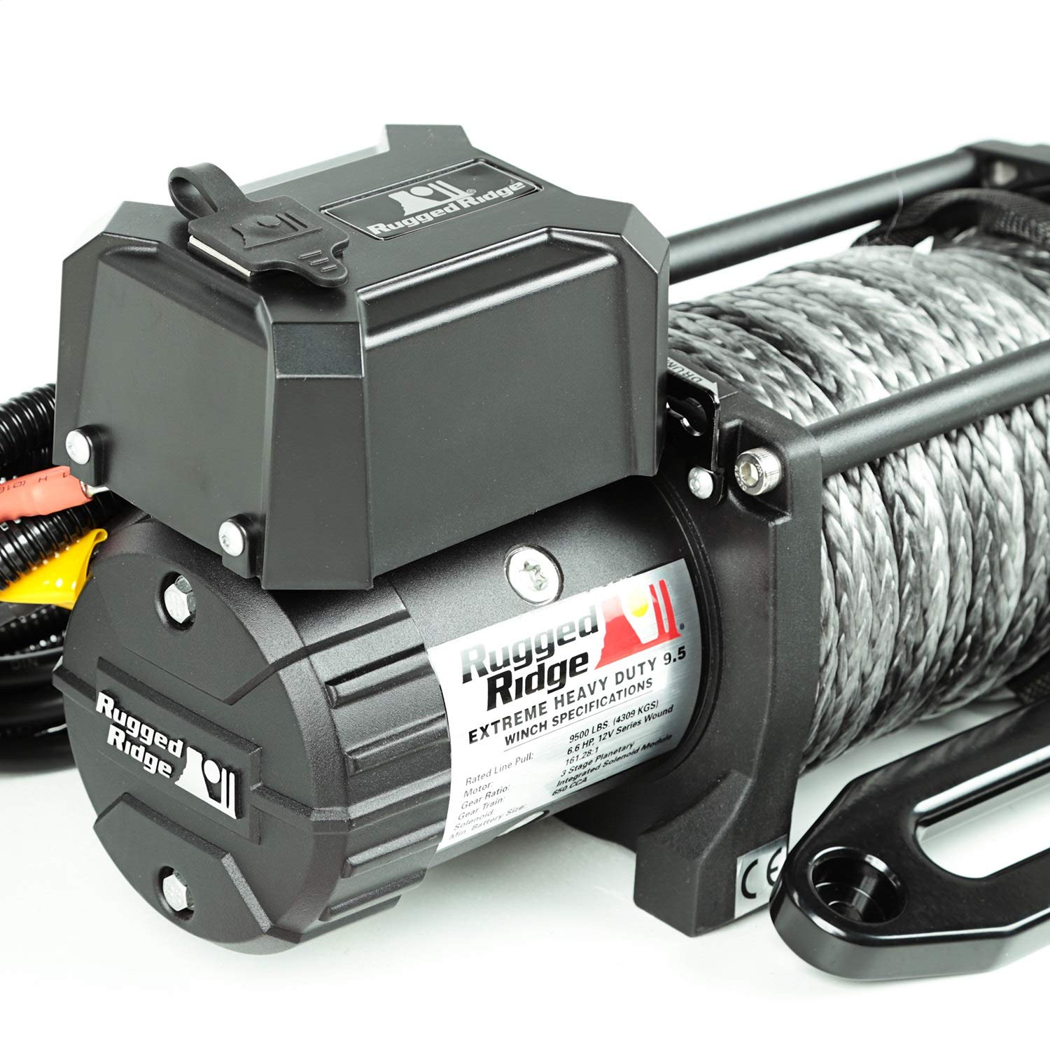 9500 LBS, Cable, Waterproof Rugged Ridge 15100.05 Nautic Winch