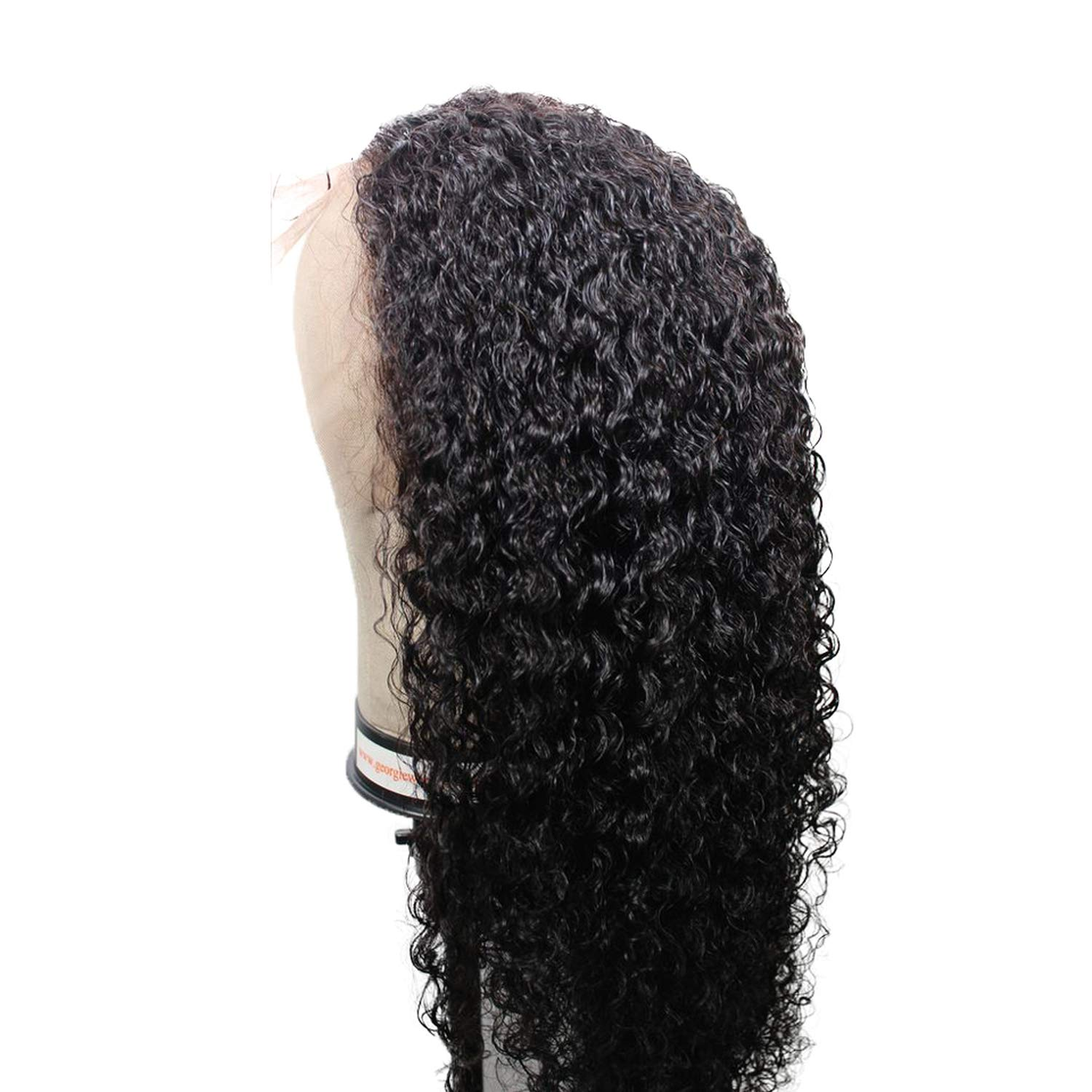 180% Density 13X6 Lace Front Human Hair Wigs 6inch Deep Parting For Black Women Natural Brazilian Curly Human Hair Wigs,20inches