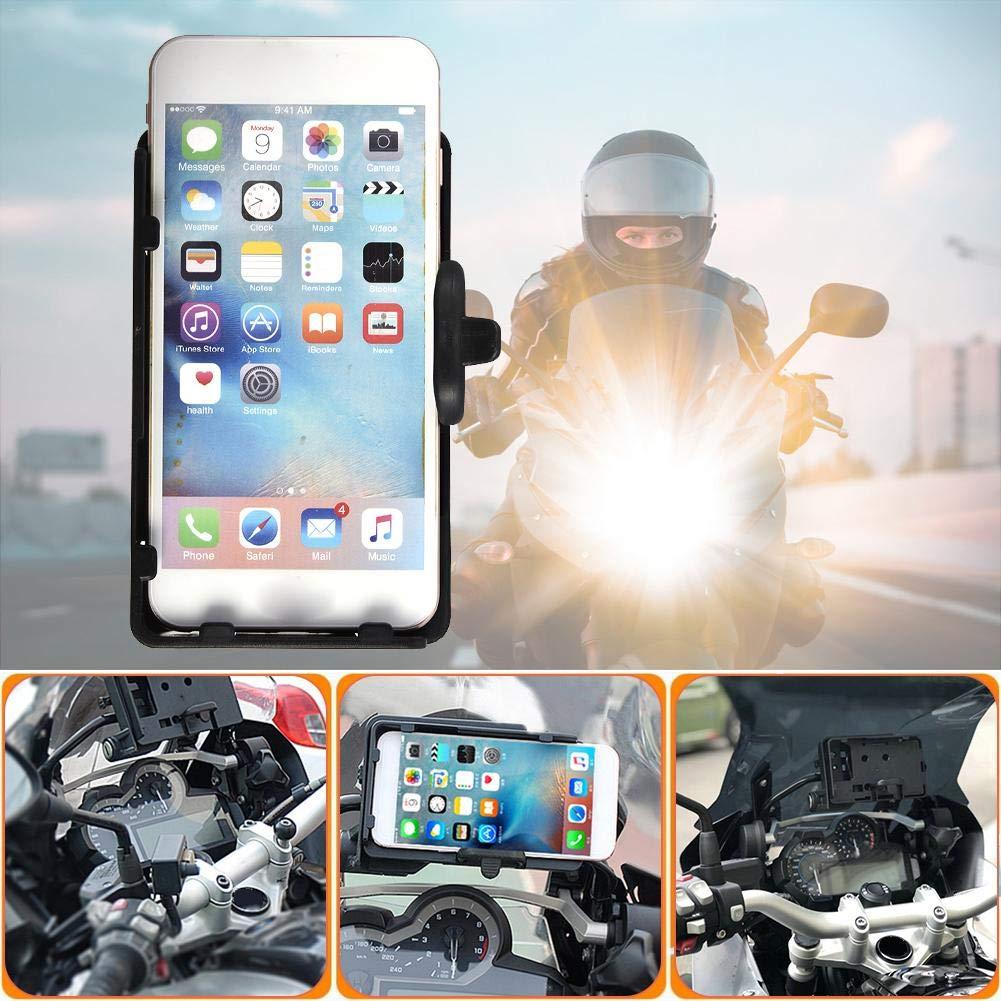 fervory Porte T/él/éphone Moto Support De Navigation De T/él/éphone Portable pour BMW R1200GS ADV F700 800GS CRF1000L Afrique Twin pour Honda Moto Charge 12MM Montage
