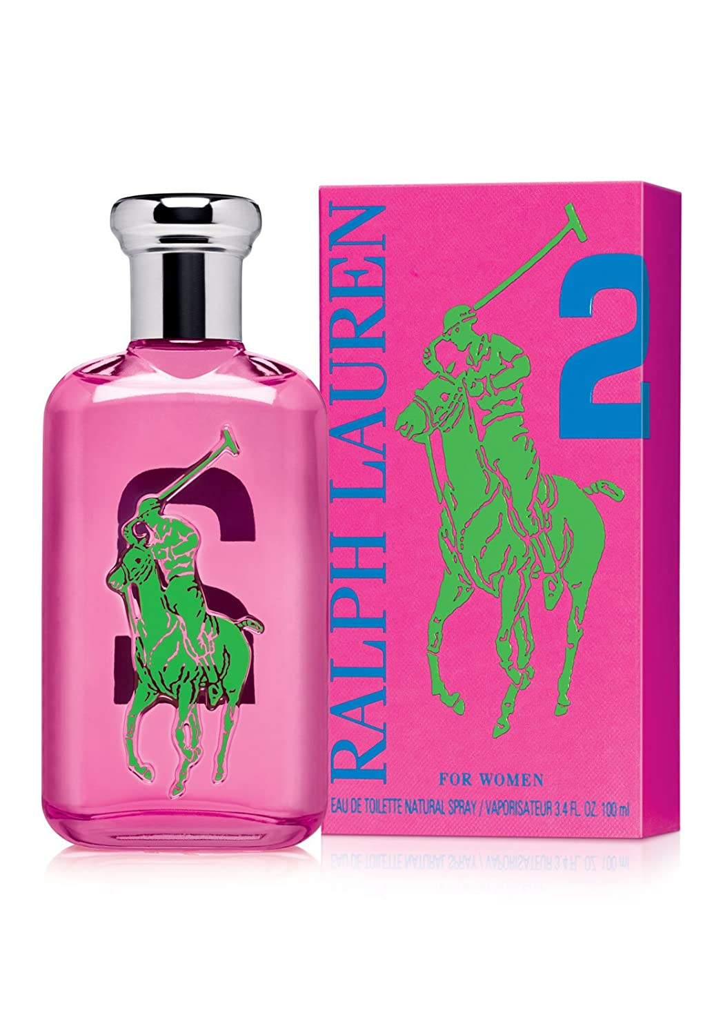 Amazon.com : Ralph Lauren Polo Big Pony Eau de Toilette Spray for Women,  No.2 Pink, 3.4 Fluid Ounce : Beauty