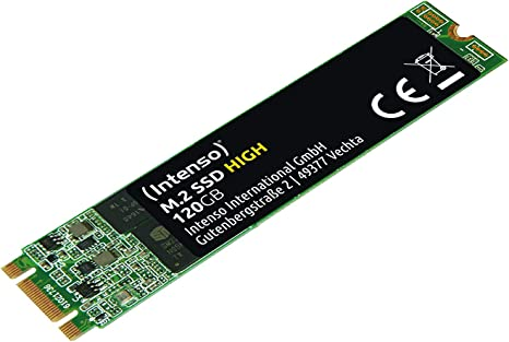 Intenso M.2 SSD SATA III High Performance 120 GB: Amazon.es ...