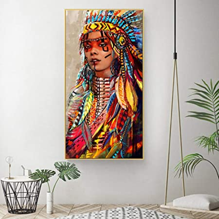 zlhcich Mujer India Pintura Decorativa núcleo Pintura ...