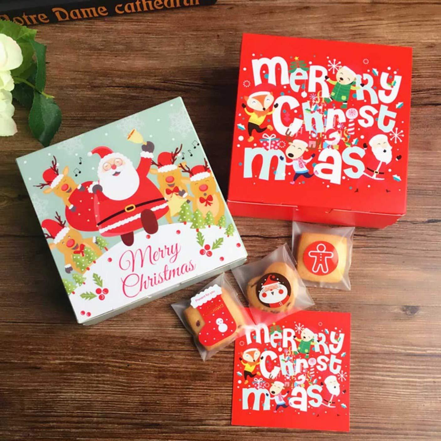 Huixing Galletas de Navidad de Calidad,Galletas Rojas,Cajas de ...