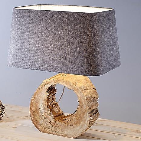 JIEJING Simple Woody Decoración Lámparas de mesa,Dormitorio ...