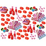 100 Piece Bulk Valentine's Day Themed Party Favor Assortment Pack for Kids Parties or Classroom