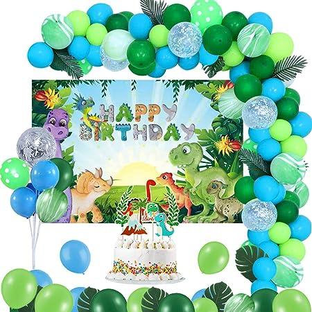Dino Happy Birthday Banner Multicoloured Bunting Dinosaur Boys Girls Party Decoration Men/'s Happy Birthday Sign Hanging Card Garland Decor