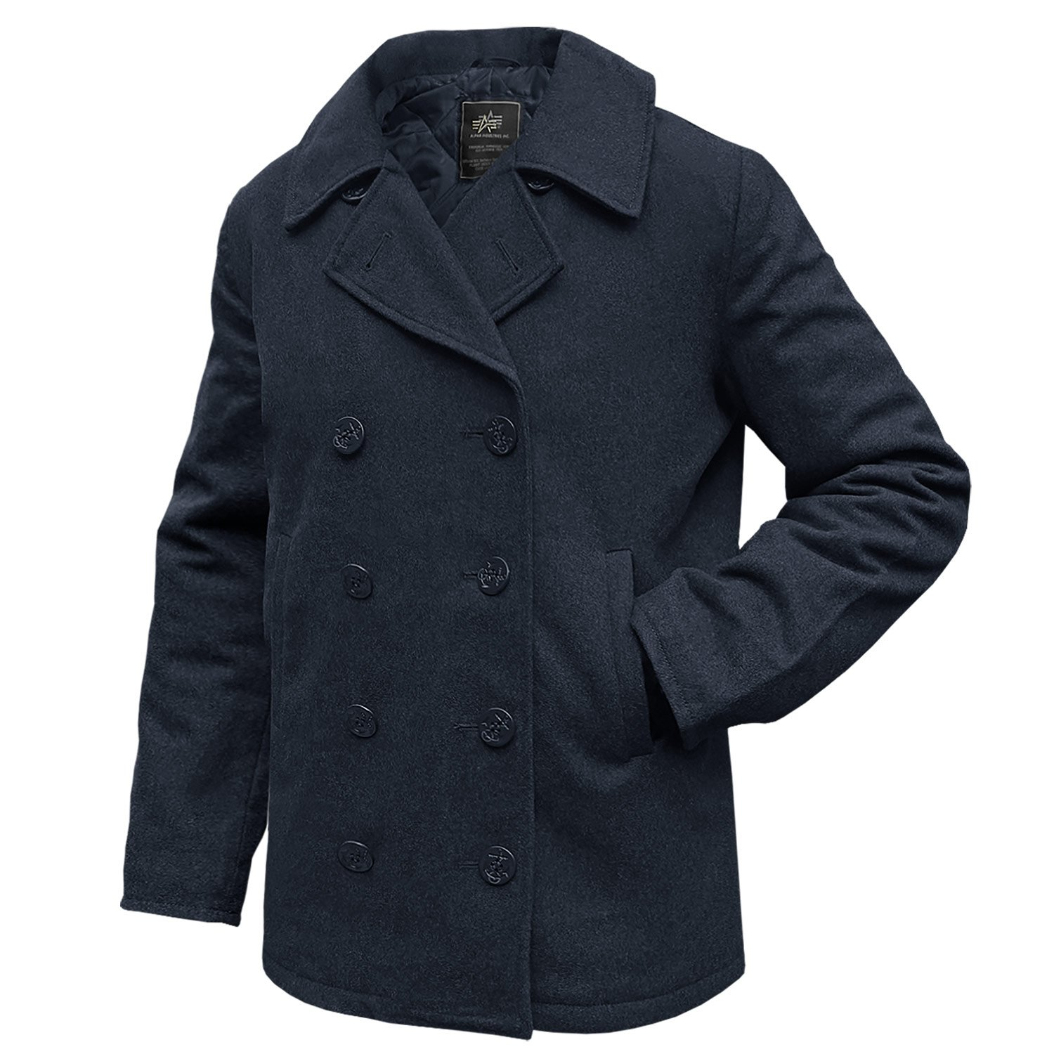 Alpha Industries Pea Coat USN Übergangsjacke Black