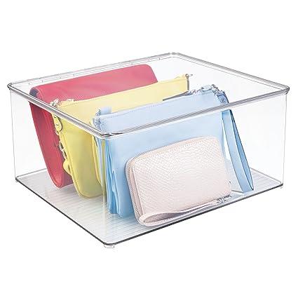 mDesign - Caja organizadora para almacenamiento en el armario; organiza ropa, suéteres, camisas