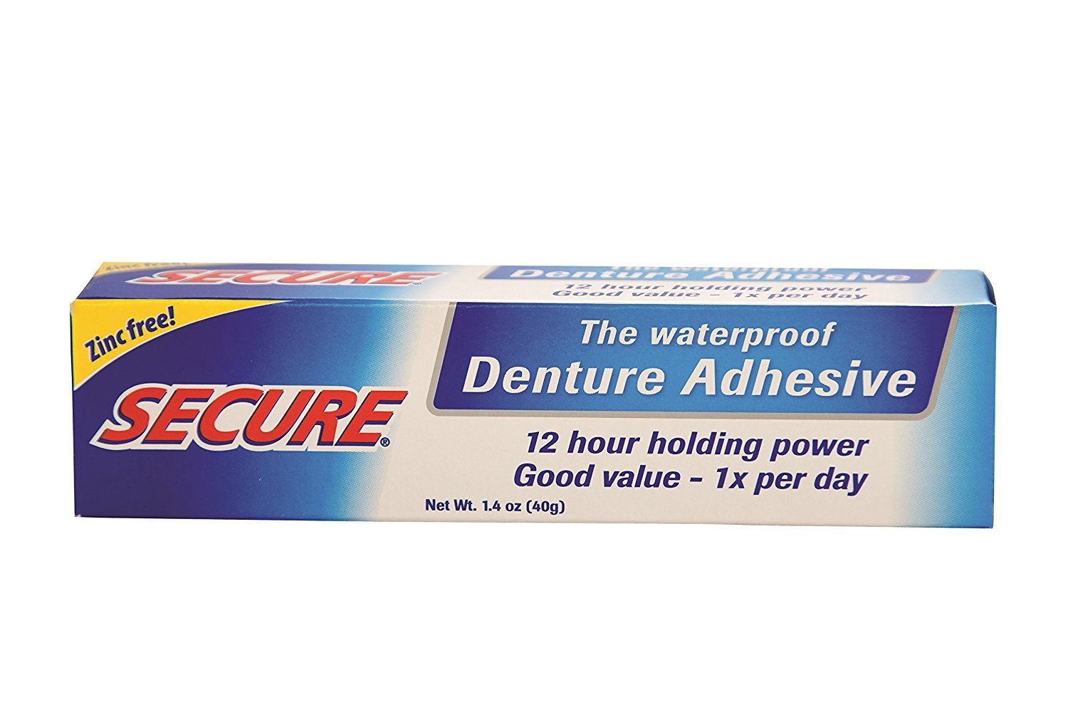 Pack of 2 x SECURE Denture Adhesive - 1.4 oz TRTAZ11A