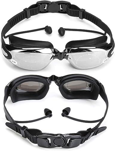 Adult Swimming Goggles Anti-fog UV Protection Myopia Swim Glasses Adjustable