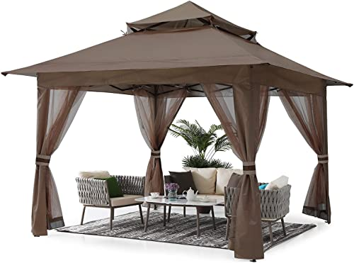 ABCCANOPY 11'x11' Gazebo Tent Outdoor Pop up Gazebo Canopy Shelter