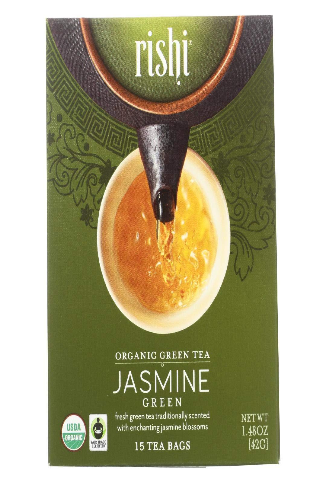 Rishi Jasmine Tea Organic Green Sachets 15 Count Bags
