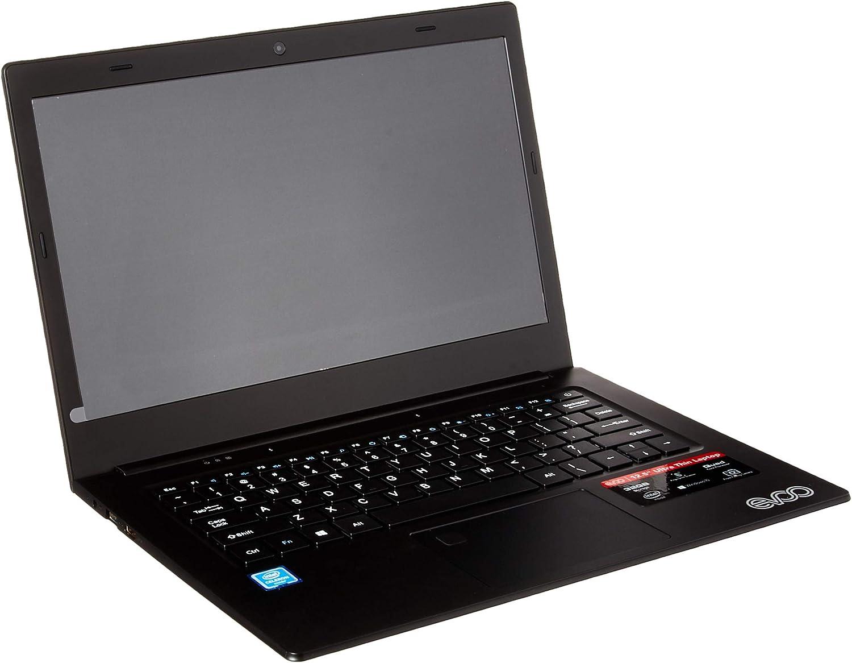 "EVOO 12.5"" HD Ultra Slim Laptop, Intel Celeron Quad Core CPU, 3GB RAM, 32GB Storage, Fingerprint Scanner, Black - EV-C-125-3-BK"