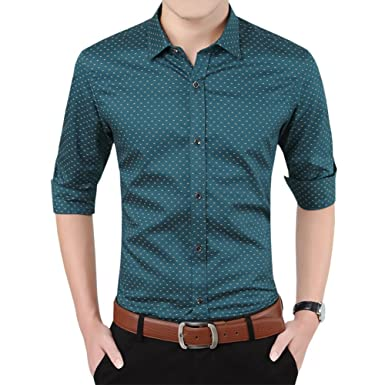 Womleys Mens Casual Long Sleeve Button Down Dress Shirts at Amazon ...